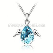 Fashion Fake Crystal Necklace,Dream Tears Drops Crystal Necklace,Oem 925 Sterling Silver Crystal Necklaces