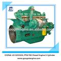 Googol Pequeño motor diesel refrigerado por agua motor de 6 cilindros motor