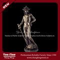 hombre desnudo decorativa jardín de tamaño de la vida de la escultura de bronce