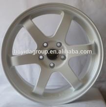 Hot selling new design car alloy wheel TE37 white