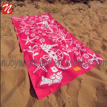 red sea horse print animal Beach towel