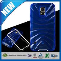 C&T Mobile phone blue wave design hybrid bumper TPU Flexible Soft Case for samsung galaxy s5