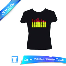 Custom led t-shirt /led glowing t-shirt/led light t-shirt