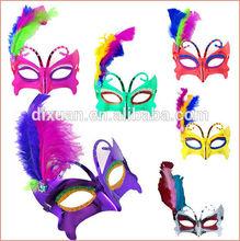 Wholesale Fashion Halloween masquerade Child Adult Wedding party mask Feather Half face masks