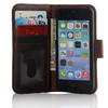Vintage Retro Book Style Real Leather Flip Wallet Case Cover For iPhone 5 5S