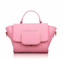 brand female PU leather tote handbag , pu shoulder tote bag for promotional gifts