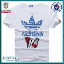 Wholesale Alibaba man printing shirt fashion style shirt designs thailand football shirt men's rock t-shirt O-neck white t-shirt
