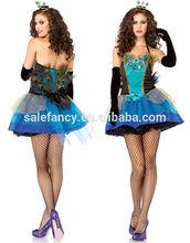 Women Sexy Ladies peacock wedding dresses Princess Fancy Dress Costume QAWC-2135