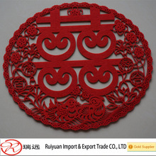 Chinese style double happiness Felt crafts for wedding gift