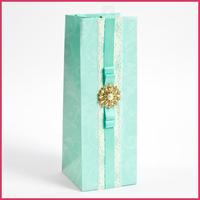 new design lace&bowknot paper wine bottle bag