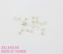 Shining Metallic Diamond Nail Jewelry, Boe Tie Nail Accessory ,Nail Art