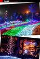 Colorido alegre decoração led string/cortina/luzes líquido made in china de zhongshan wechat da árvore de natal net