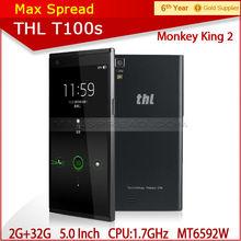 Original THL T100s monkey king 2 5.0'' OGS NFC OTG 13MP 13MP camera 2gb ram 32gb rom black phone