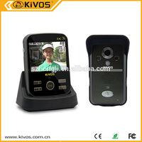 water proof wireless intercom of digital peephole /ip camera door eye