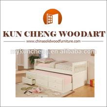 Agradable diseño de la muchacha americana de madera cama nido con ropa de cama / de madera de las muchachas de la princesa cama