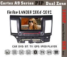 8inch HD 1080P BT TV GPS IPOD Fit for Mitsubishi lancer 2006-2012 multimedia car dvd player dvd + gps