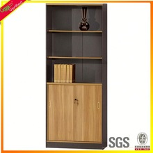 Customized wood carved bookcase simple design bookcase