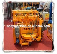 QT40-3A Manual low investment high profit block making machine production line