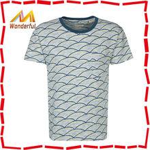 OEM fancy hot sale breathable o-neck short sleeve cotton causal men tri-blend t shirts wholesale