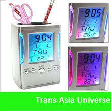 Hot Sale Custom cheap creative digital alarm clock pen