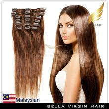 Virgin Malaysian Unprocessed Human Hair Clip In Hair Extension