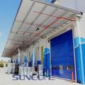 electirc chino industrial sandwich panel de puertas correderas