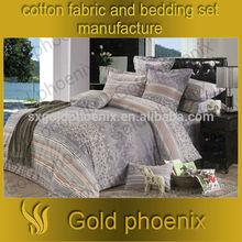 100% cotton organic twill fabric luxury turkey king size men bed sheet set stripe bedding set