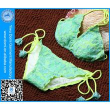 Domi triangl lace and lycra fabric high quality xxx sex china extreme micro mini bikini girl swimwear