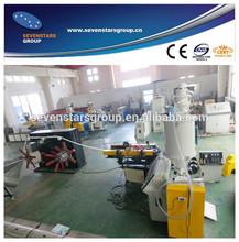 Plastic single wall corrugated pipe making machine for pe pp pvc