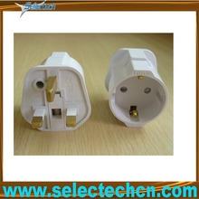 3 pin 13 amp uk travel adaptors with groung pin SE-GCP