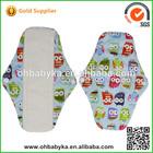 Ohbabyka washable sanitary napkins reusable lovely print panty liner for girl