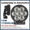 2014 high power IP68 led focus light led work light with life-time warranty