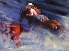 Hot Selling Western Cowboy Oil Painting on canvas