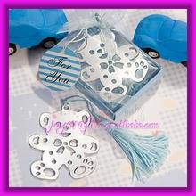 adorável urso de peluche bookmarks design azul presente de natal