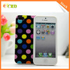 Stock Product Soft TPU Phone Case For Iphone5,Polka Dot Phone Case For Iphone 5/5S