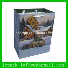 snow house Paper Bag/ Paper Gift bag/paper tote bag for kids