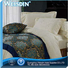 plain dyed new design reactive printed branded bed sheet