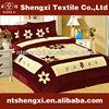 Patchwork velvet quilt comforter setsluxury wedding embroidered bedding sets king size 3d bed cover set with curtains