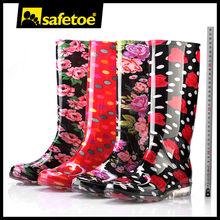 Clear black sole rain boots, camo rain boots for women, boy cheap rain boots W-6040
