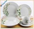 Menuebesteck blattform platte, mikrowellensicher menuebesteck, runde keramik menuebesteck