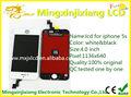 de repuesto teléfono celular lcd al por mayor para el iphone 5s montaje de pantalla táctil