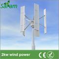 2kw verticale casa del vento solare sistema ibrido di alimentazione