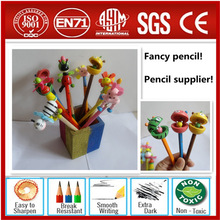 Funny pencil case,rubber animal pencil toppers