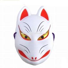 Japanese Fox Kitsune Mask Cosplay Hand Made Party Kabuki Costume Halloween Mask QMAK-2035