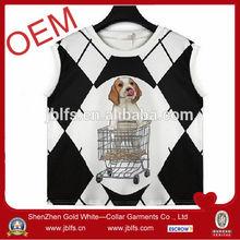 2014 woman custom dog printed tank top