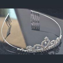 Popular metal wire string braid headband headdress Crystal