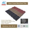 Tuiles romaines double type et le matériel en acier de zinc alu dim. pierre enduite de tuiles en métal prix