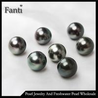 Natural black pearl AAA loose Tahitian pearl no hole