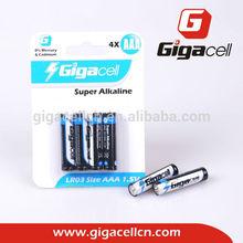 super alkaline battery LR03 battery Size AAA battery