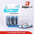 súper alcalina AM3 batería LR6 batería tamaño AA batería